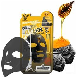 Тканевая маска Elizavecca Black Charcoal Honey Deep Power Ringer Mask Pack